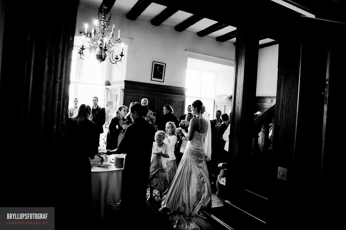 Brudekjolen Bryllupsfotograf til flotte bryllupsfoto